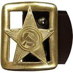Ремень офицерский обр. РККА 1935 г. с подкладкой коричневый (новодел)