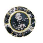 Тарелка сувенирная Жуков черно-белая