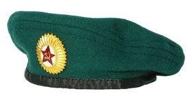 Берет-мини сувенирный зеленый с кокардой