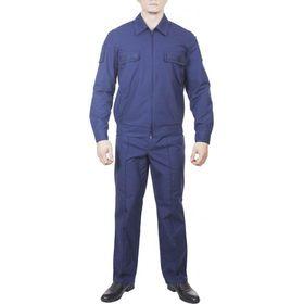 Костюм офисный для военнослужащих синий (длинный и короткий рукав)