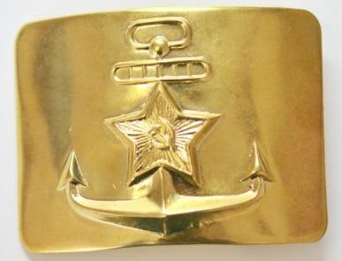 Бляха ВМФ СССР латунная