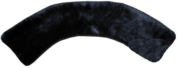 Воротник темно-синий натуральный мех