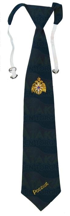 Галстук-регат МЧС с вышивкой (орел)