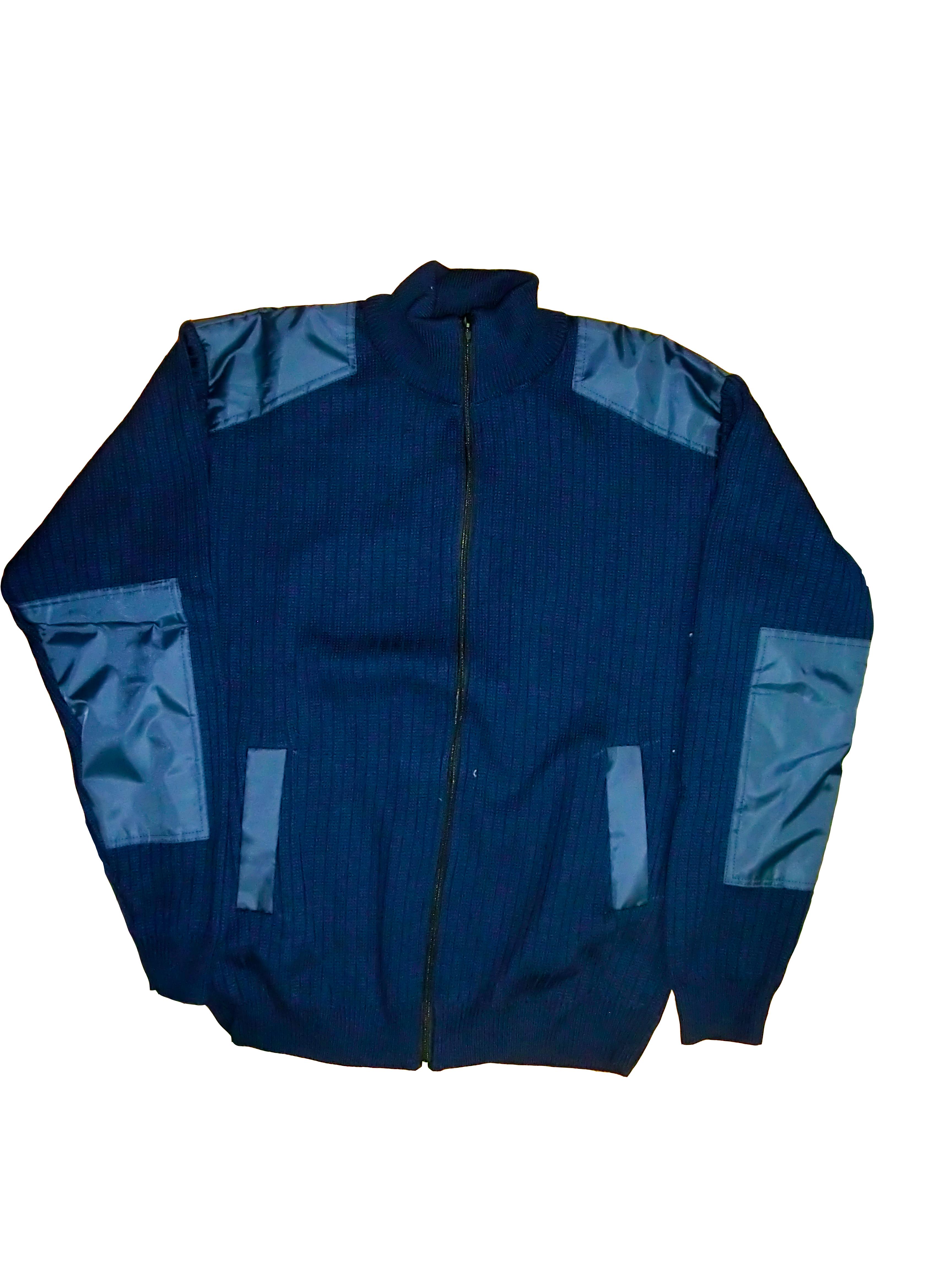 Куртка вязаная на молнии синяя