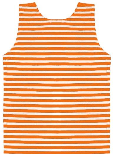 Майка-тельняшка детская х/б оранжевая