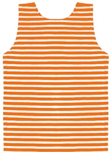 Майка-тельняшка х/б оранжевая