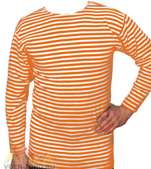 Тельняшка х/б оранжевая