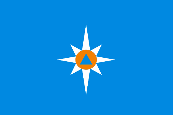 Флаг МЧС (90х135 см)