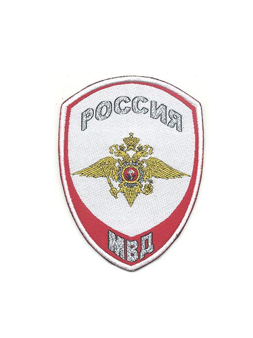 Шеврон Полиция белый