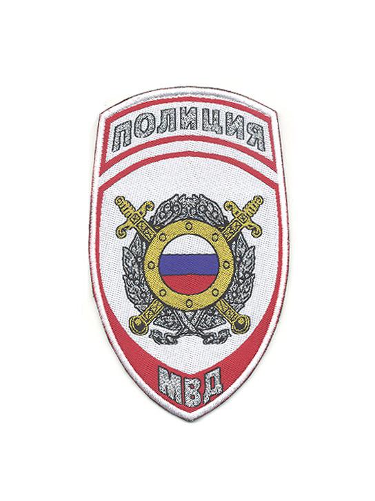 Шеврон полиция МВД белый