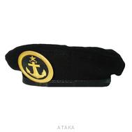 Берет-мини сувенирный черный с кокардой ВМФ