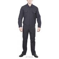 Костюм офисный для военнослужащих черный (длинный и короткий рукав)