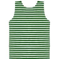 Майка-тельняшка детская х/б зеленая