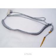 Аксельбант 1 нак.мл.состав метал серебро