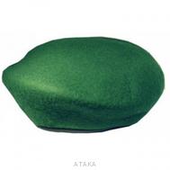 Берет бесшовный зеленый