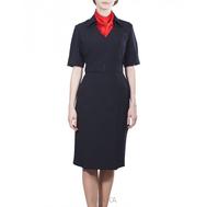 Платье полиции короткий и длинный рукав + шейный платок